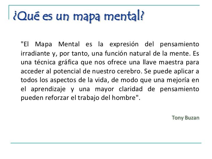 definicion de mapa mental